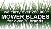 We Carry Mower Blades