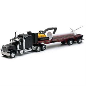 Peterbilt Flatbed Truck with Wind Turbine
