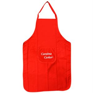 Carolina Cooker® Red Cotton Twill Apron