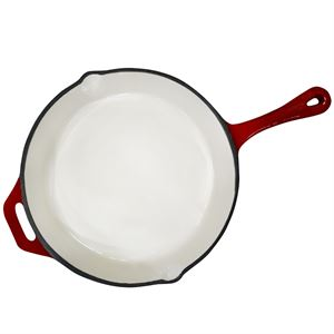 Carolina Cooker® Round Enamel Cast Iron Skillet, 11