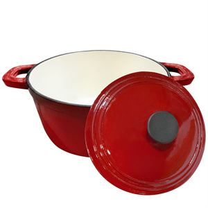 Carolina Cooker® Enamel Cast Iron Pot with Lid, 2.5 Qt.
