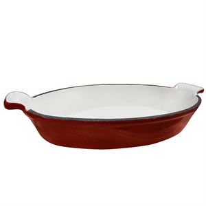Carolina Cooker® Enamel Cast Iron Large Oval Baking Pan