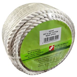 Cotton Rope Spool, 3/8 In. x 100 Ft.