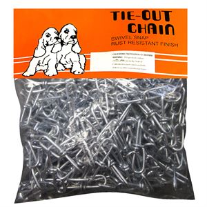 Tie Out Chain, 2/0 x 30 Ft., Galvanzied