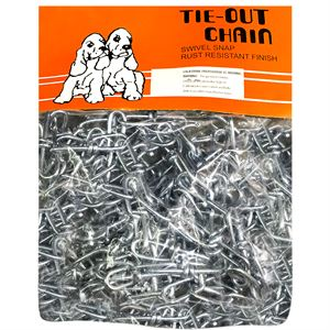 Tie Out Chain, 3/0 x 20 Ft., Galvanized