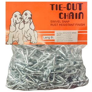# 3 Chain x 30 Foot Galvanized Tie Out Dog Chain