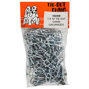 #1 chain x 10 foot tie out dog chain