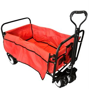 Red Collapsible Beach Wagon