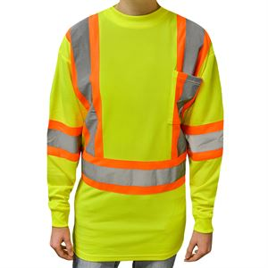 Hi-Viz Long Sleeve Yellow T-Shirt, XL