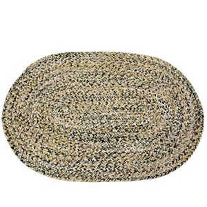 Oval Braided Rug, 22 In. x 33 In.