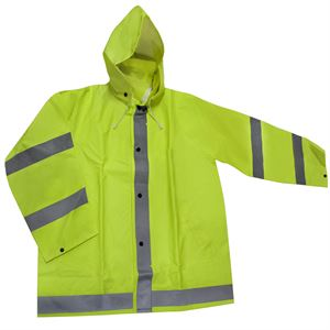 Agri Wear Reflective/Safety Rain Jacket (Medium)