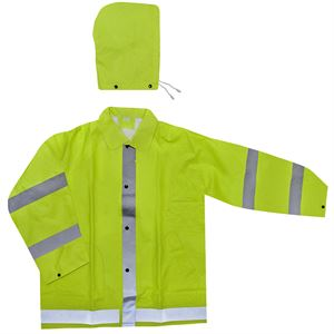 Agri Wear Reflective/Safety Rain Jacket (X-Large)