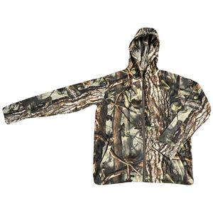 Fleece Hooded Camo Jacket