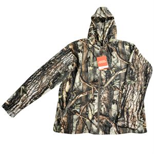 Mens Fleece Hooded Camo Jacket - XL