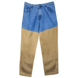 Stone Wash Denim Brush Pants 34 x 32