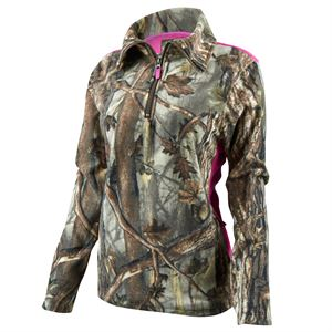 Womens 1/4-Zip Pullover Camo, XL