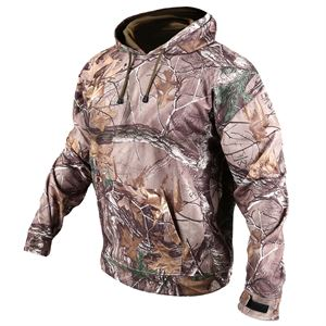 Mens Thermal Fleece Camo Hoodie Medium