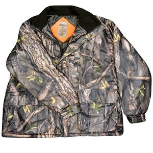 Insulated Camo Parka with Hood, XL