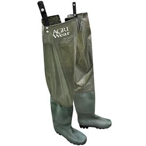 Mens Size 12 PVC Boot Hip Wader