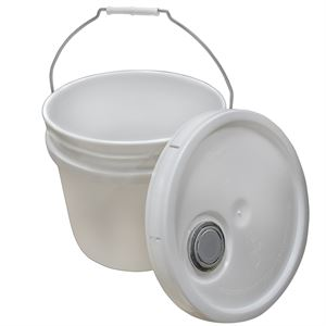 White Bucket with Lid, 3.5 Gallon