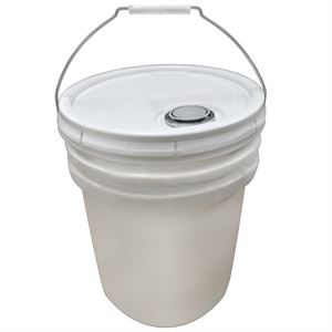 White Bucket with Lid, 5 Gallon
