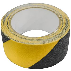 "Black & Yellow Anti-Slip Tape 2"" x 16', Matte Finish"