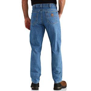 Straight/Traditional-Fit Tapered-Leg Darkstone Jean, 34 x 30