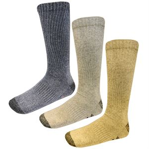 Wrangler Cotton Boot Sock 3 pack assorted colors