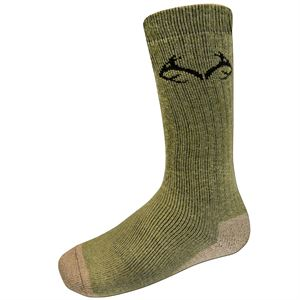 Realtree Heavyweight Large Green Socks