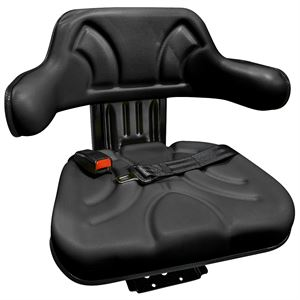 Black Universal Tractor Seat