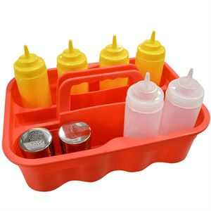 Red All-Purpose Bottle Carry Caddy