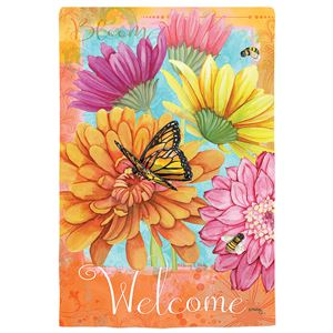 Colorful Welcome Garden Flag