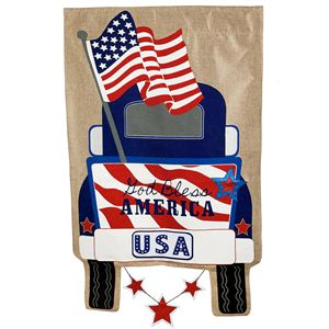 Patriotic Truck House Flag
