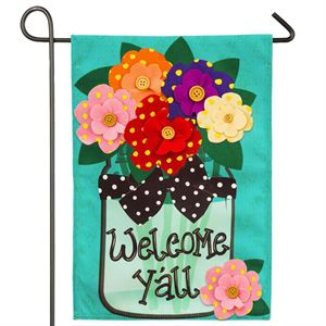 Welcome Yall Garden Flag
