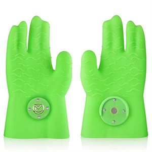 Silicone Cooking Glove (Green - Glow in the Dark)