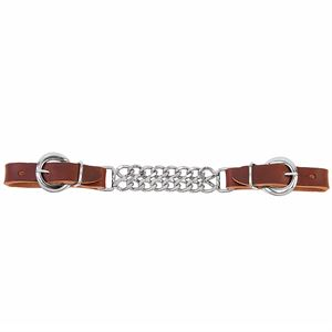 Double Flat Link Chain Curb Strap