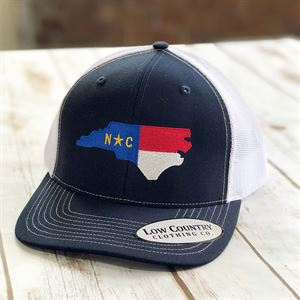 Low Country NC State Flag, Navy/White Snapback Hat