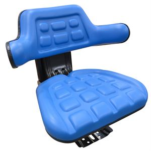 Tractor Seat Blue with Slide and Suspension