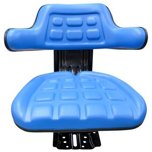 Tractor Seat Blue with Slide & Suspension