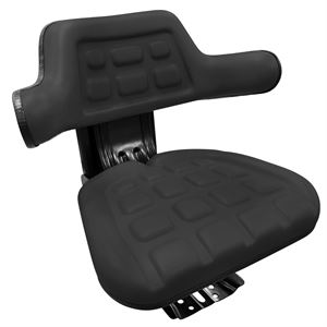 Tractor Seat Black with slide & Suspension