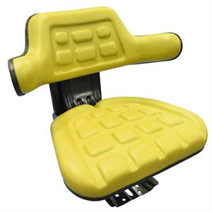 Tractor Seat Yellow with Slide & Suspension