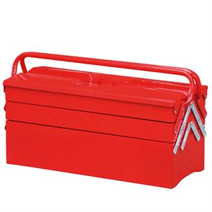 Cantilever Red Tool Box with 4 Trays