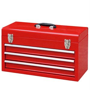 3 Drawer Red Tool Box with Handle