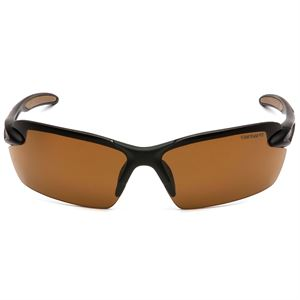 Carhartt® Brown Spokane Safety Glasses with Black Frame