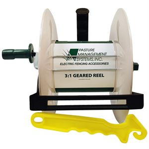 Geared 3:1 Fence Reel with Insulated Hook Gate Handle