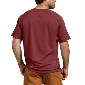 Dickies® Short Sleeve Performance Tee Shirt, Red, XL