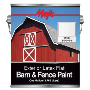 Wht Latex Barn & Fence Paint Gal