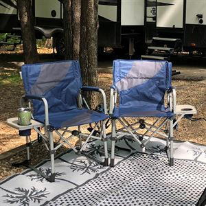Folding Camp Chairs with Table, 2 Pieces