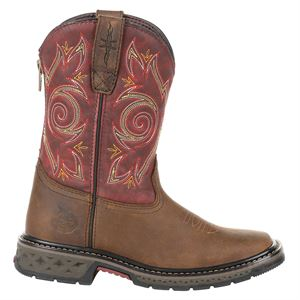 Georgia Boots Little Zipper Youth Girl Boot Size 12