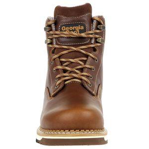 Georgia Boots Wedge Heel Steel Toe Boot Size 10